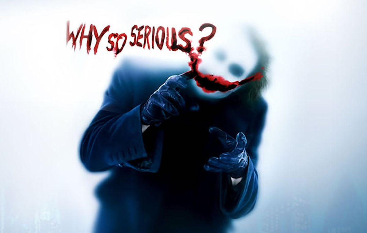 Why So Serious Joker The Dark Knight