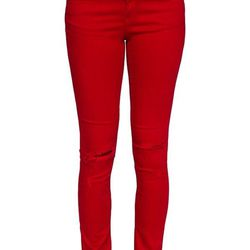 """<b>Rag & Bone</b> Red Skinny Jeans with Holes, <a href=http://www.rag-bone.com/Skinny__Red_with_Holes/pd/cl/6300/np/300/p/2988.html"""">$198<a/>"""