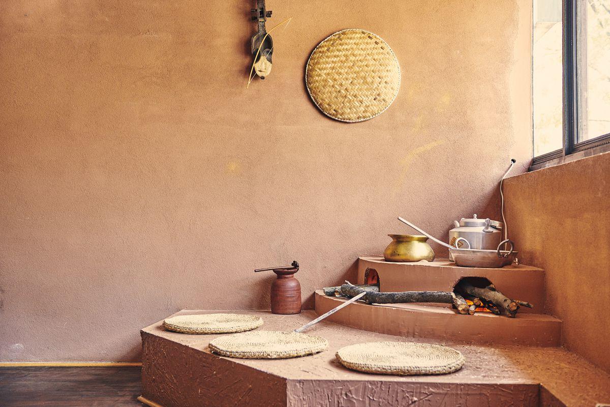 Mock native kitchen in Bajeko Sekuwa