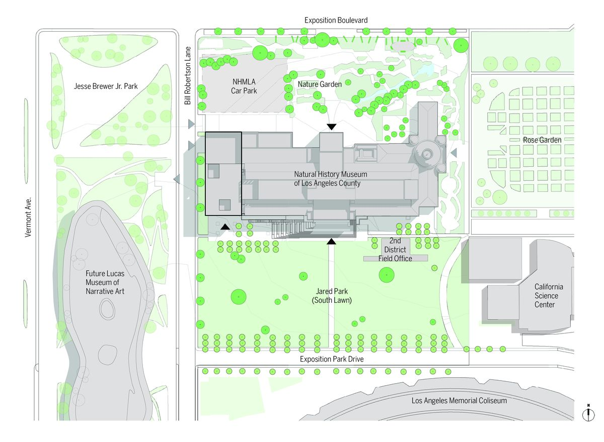 Map of Natural History Museum site plan