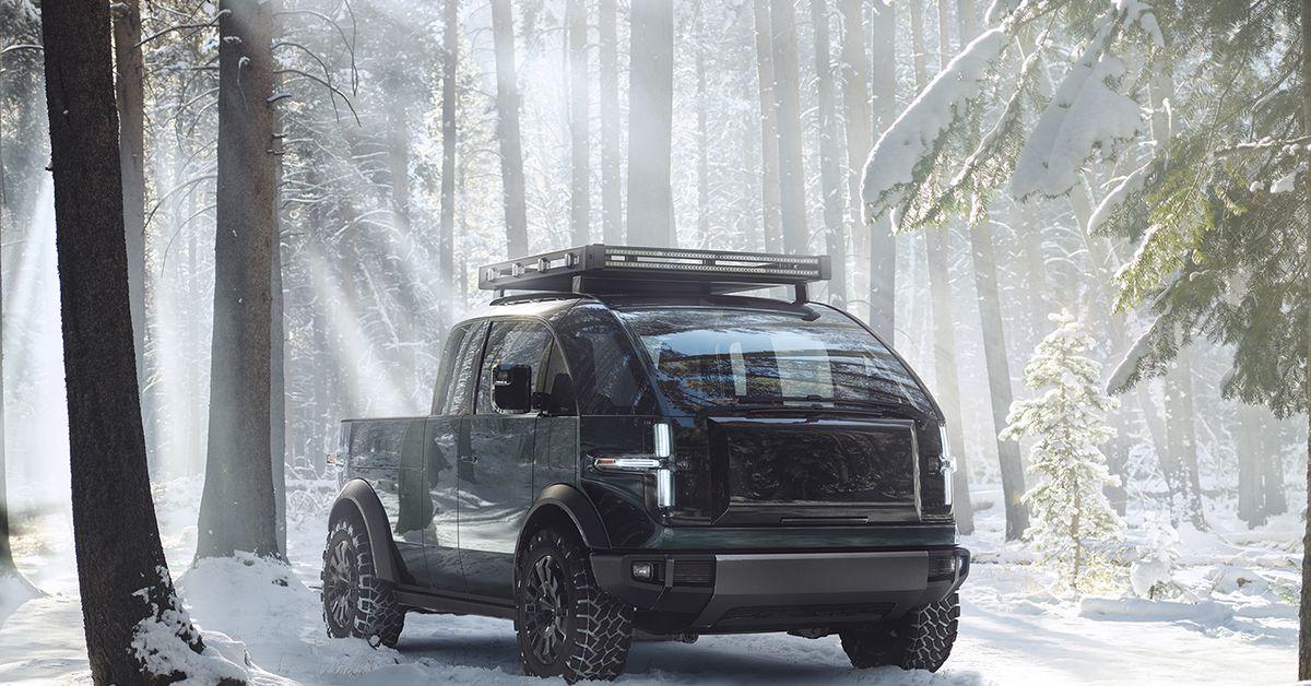 Canoo pickuptruck exteriorsnow 1