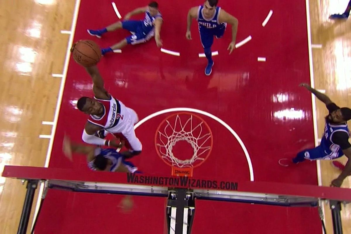 Then John Wall Elevated And Detonated With A Vicious Tomahawk Dunk All Over Timothe Luwawu Cabarrot To Give The NBA Its First