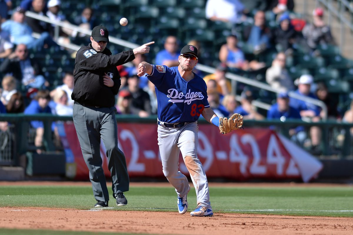 MLB: Spring Training-Los Angeles Dodgers at Kansas City Royals