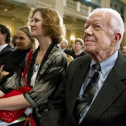Former President Jimmy Carter attends the 16th annual CAF conference, in Washington Thursday, Sep. 6, 2012.