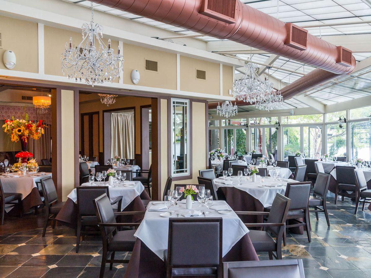 A dining room at a restaurant