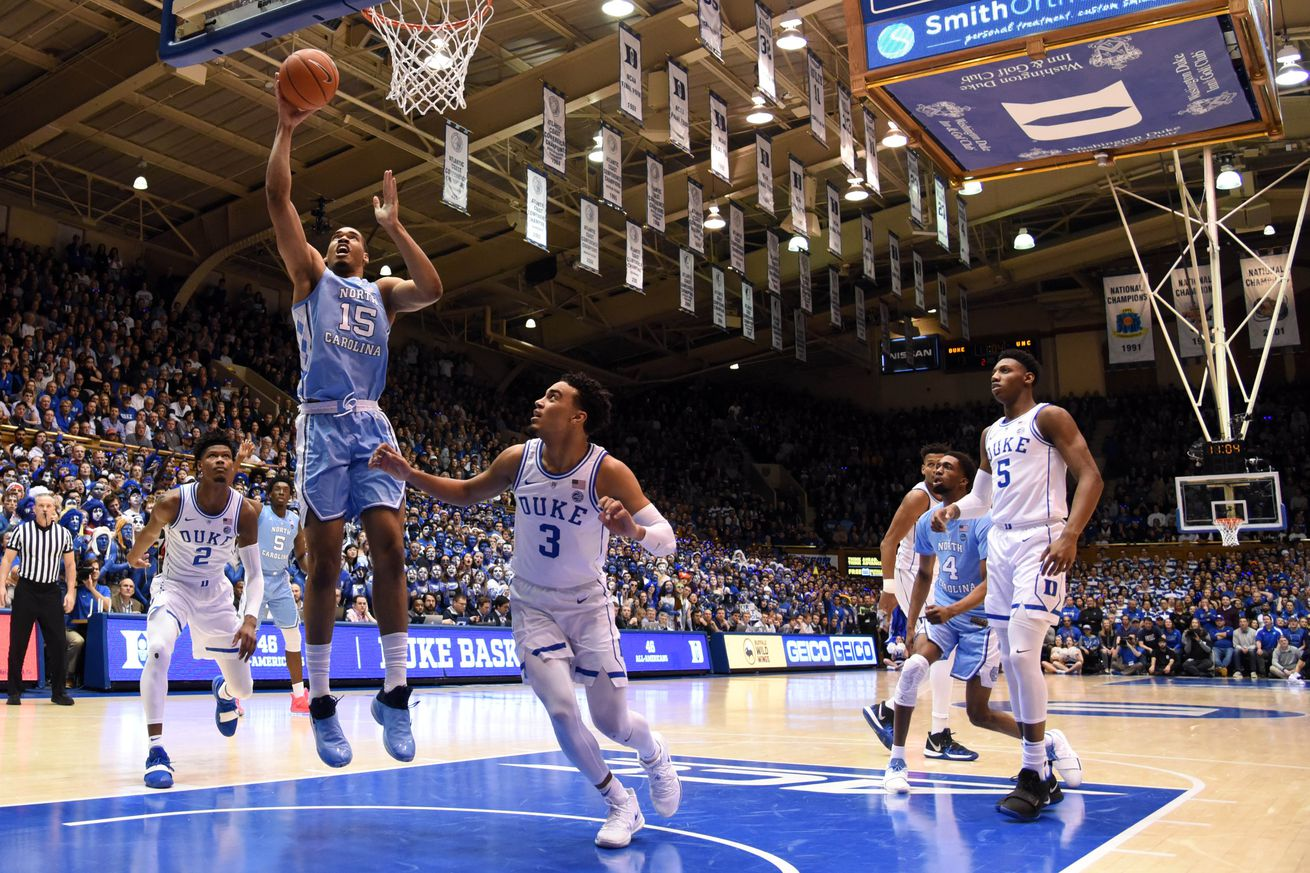 Strangely enough, the Duke-North Carolina rematch isn't in ESPN's 8 p.m. Eastern slot tonight.