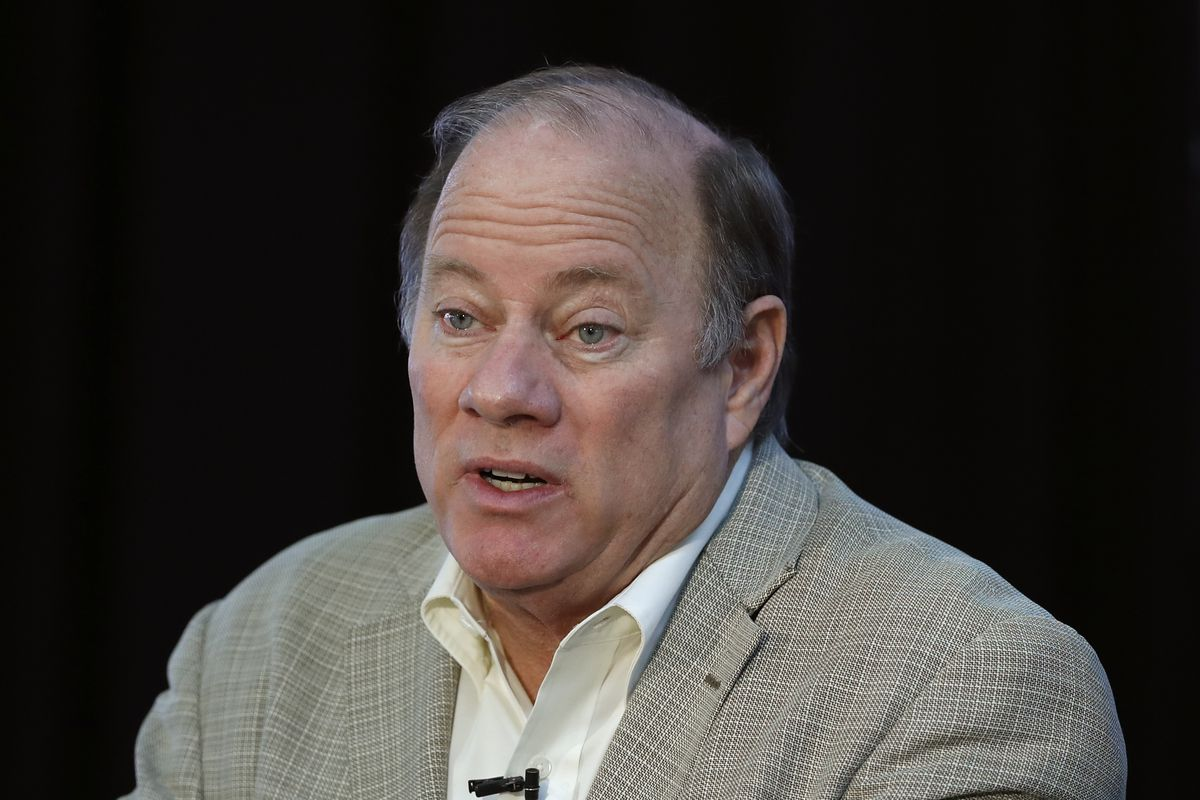 In this April 23, 2020, file photo, Detroit Mayor Mike Duggan speaks in Detroit. Mayor Duggan this week turned down 6,200 doses of the newly authorized Johnson & Johnson coronavirus vaccine, with favoring shots from Pfizer and Moderna for now.