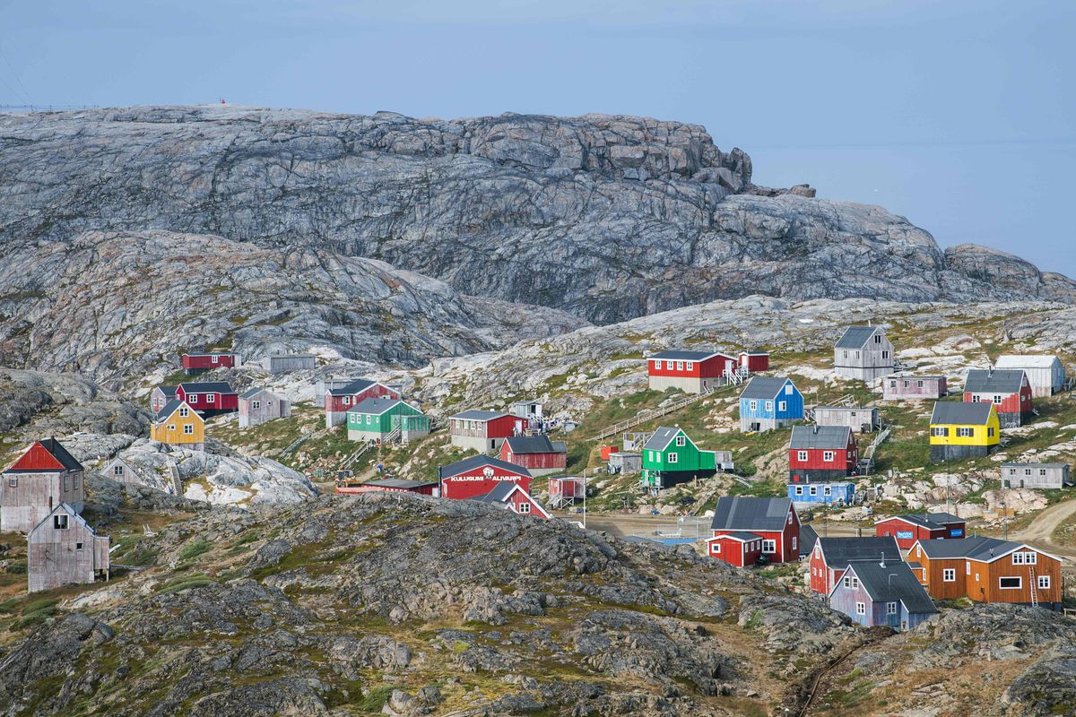 The town of Kulusuk in Greenland.