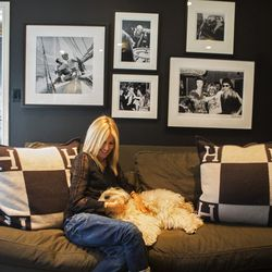 """""""Just like my home, I left a big wall open at my new store for artists to display their work."""""""