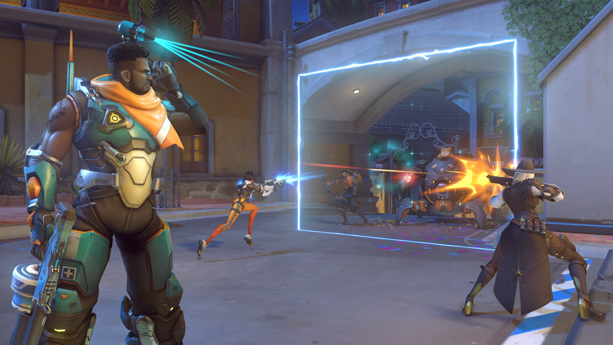 Overwatch - Baptiste sets up his ultimate.