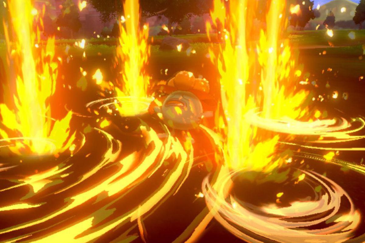 A Gloom gets absolutely destroyed by Blast Burn in Pokémon Sword and Shield