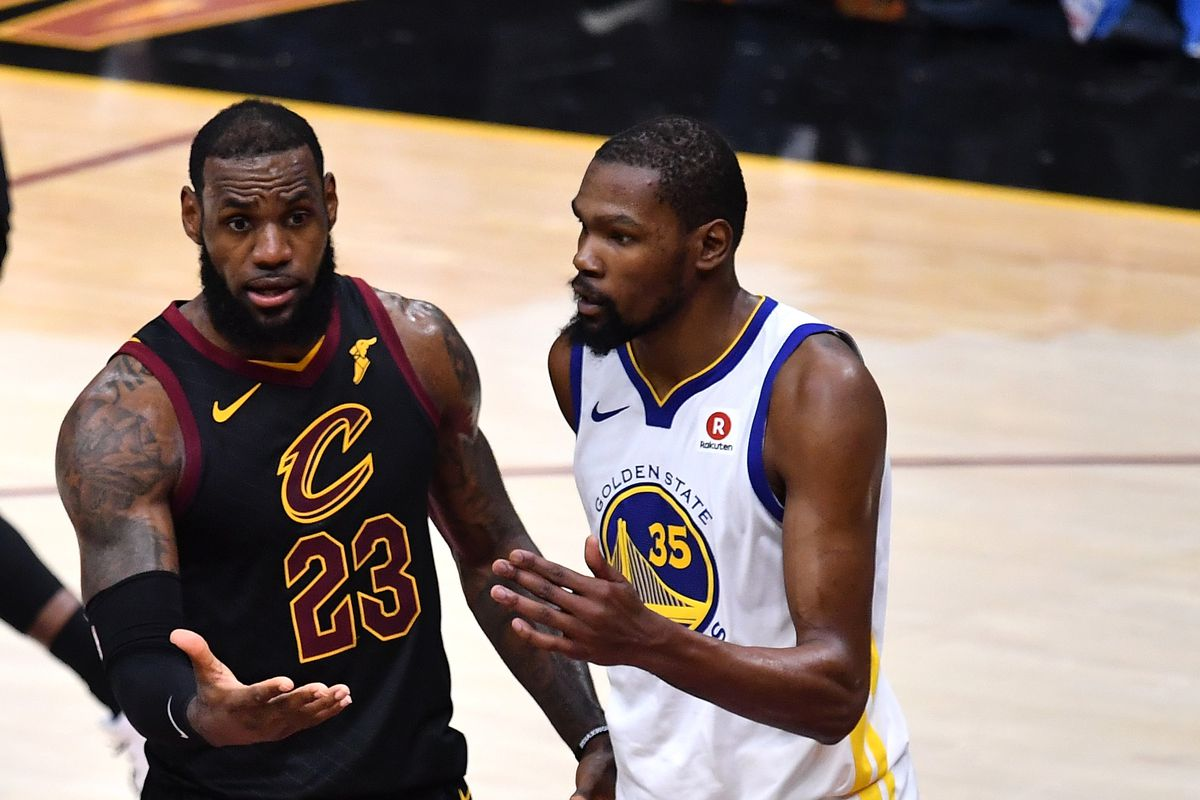ea7d83613201 LeBron James and Kevin Durant rapped in a song together and it s not very  good