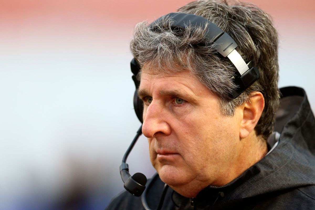 Mike Leach never wears a hat.