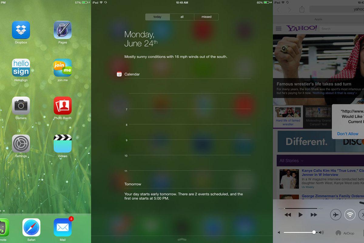 9TO5MAC IOS7 beta 2 ipad screenshots