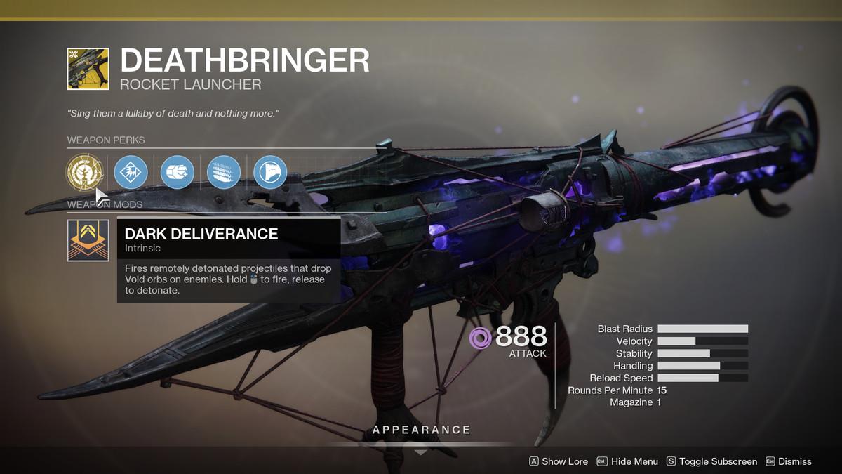 Deathbringer Destiny 2