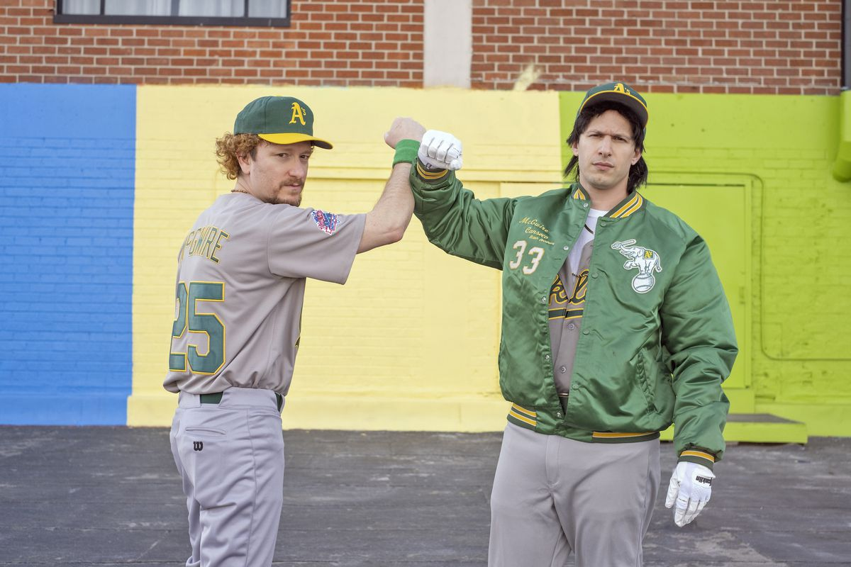 Akiva Schaffer and Andy Samberg in The Unauthorized Bash Brothers Experience.
