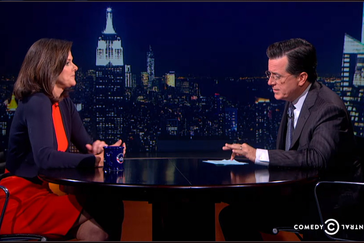 News-anchor-turned-education-activist Campbell Brown appeared on The Colbert Report to discuss teacher tenure.