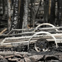 The remains of a trailer destroyed by the Brian Head Fire are pictured on Friday, June 30, 2017. The evacuation order for Brian Head and Dry Lakes was lifted Friday, 13 days after residents were forced from their homes by the raging fire.