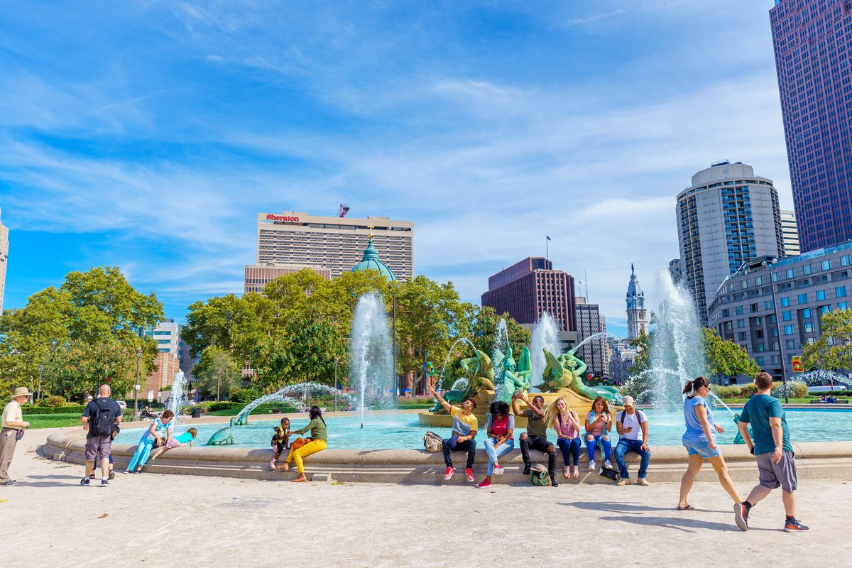 Centrally located on the Benjamin Franklin Parkway, Logan Circle was originally known as Northwest Square, one of the original five squares on William Penn's 1682 plan for Philadelphia. The park contains one of the most striking features of the Benjamin F
