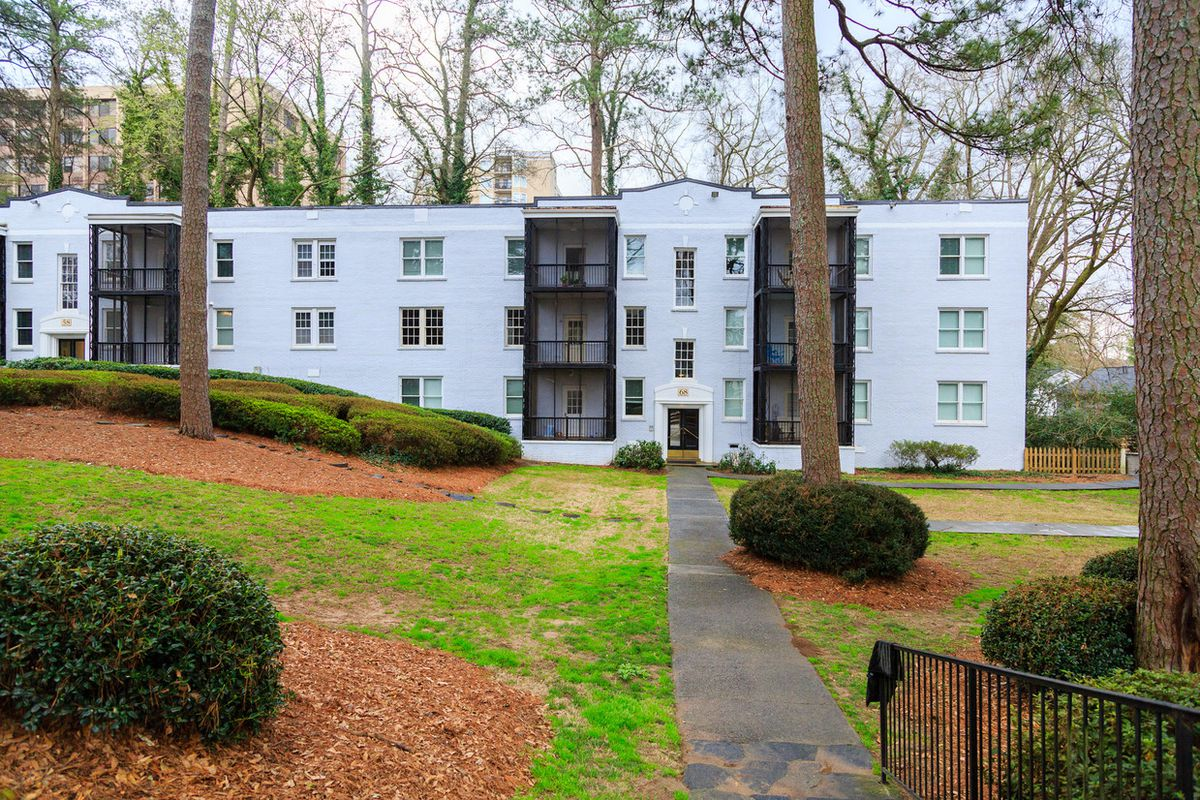 Tucked off Peachtree Road, the updated complex is quieter respite in the heart of town.