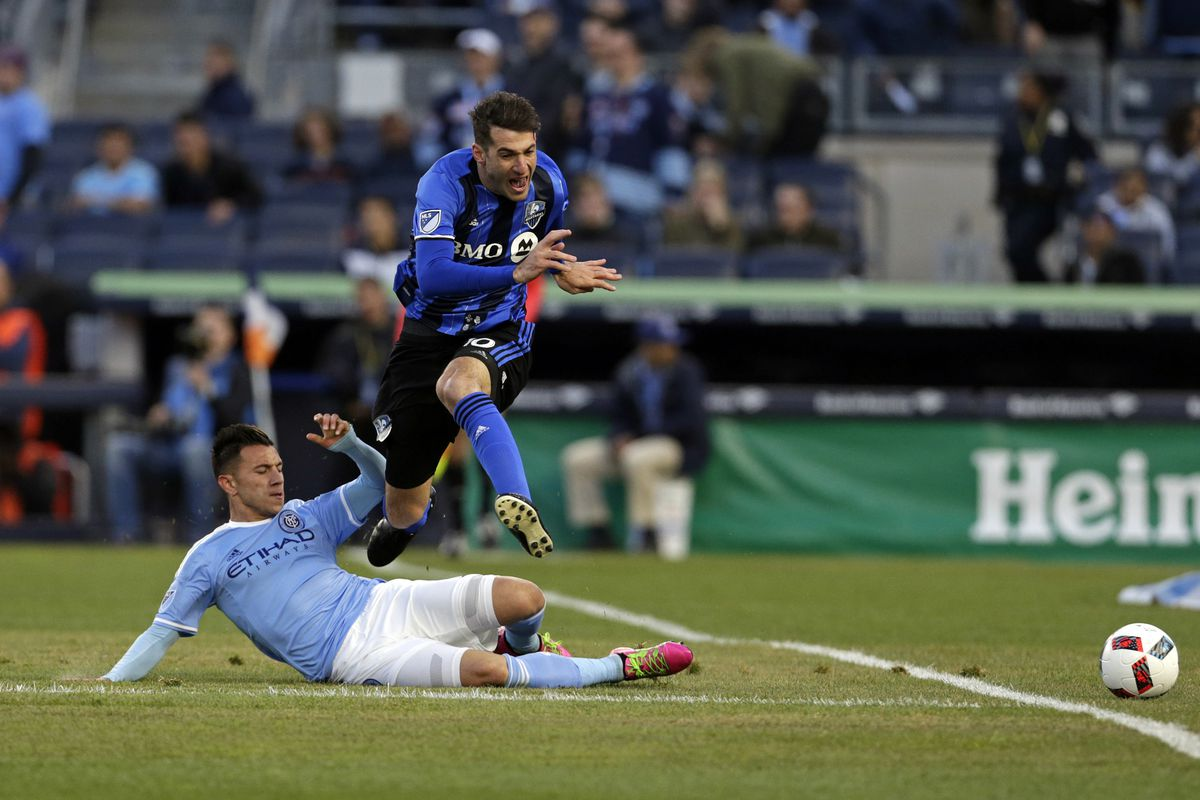Piatti attempts to skirt by a NYCFC defender in Wednesday's 1-1 draw.
