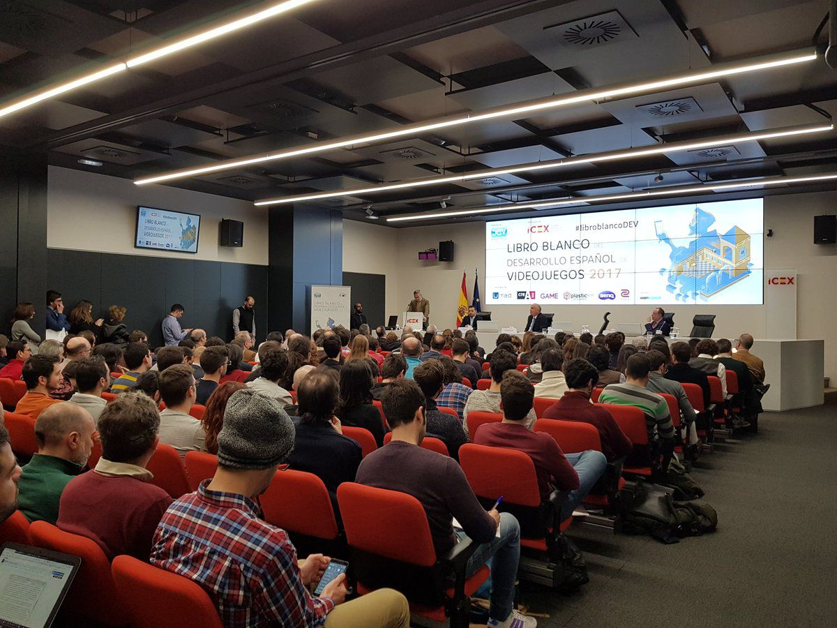 Game developers in Madrid greet the news of a major grant (Jan. 2018)