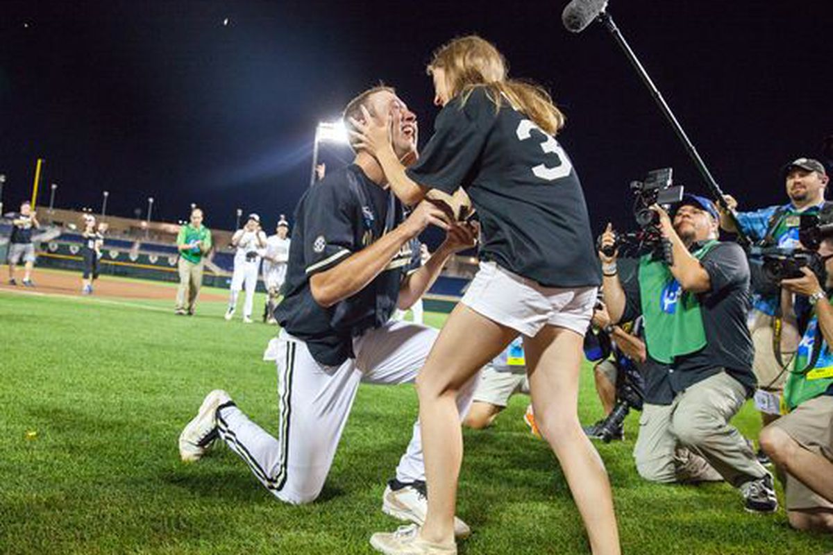 Brian Miller, seen here getting his head crushed to form the diamond he would give his girlfriend.
