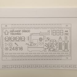 Here's every possible segment of the black and white LCD that can be lit up.