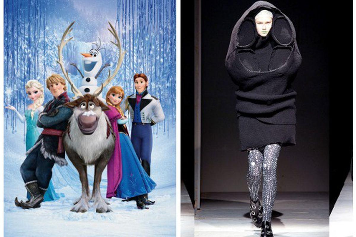 """Photos: <a href=""""http://disney.wikia.com/wiki/Frozen"""">Disney Wikia</a>, <a href=""""http://newyork.doverstreetmarket.com/dsmpaper/cdg.htmlr"""">Dover Street Market</a>"""