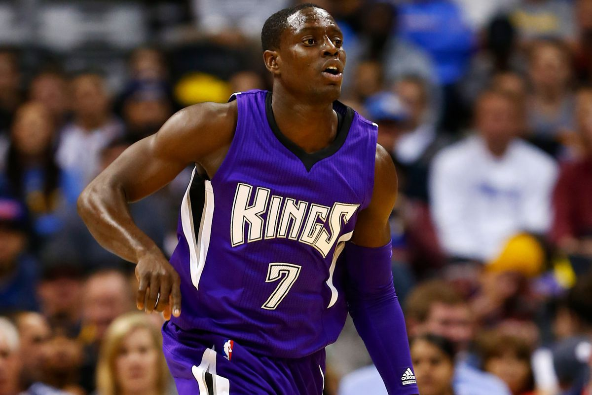 Darren Collison brings the ball up the court against the Denver Nuggets