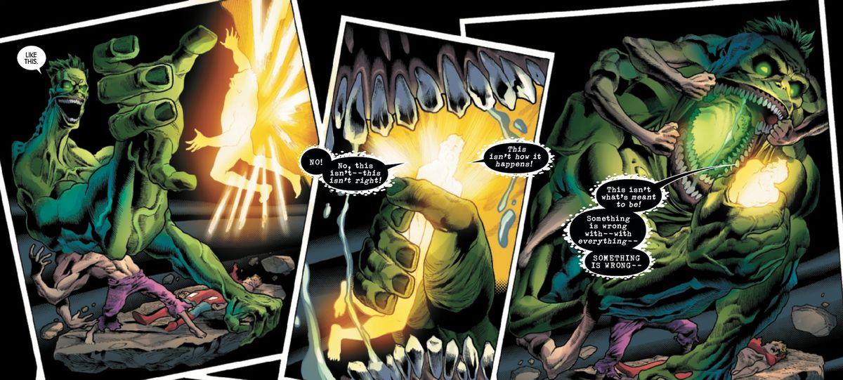 Devil Hulk consumes the Sentience