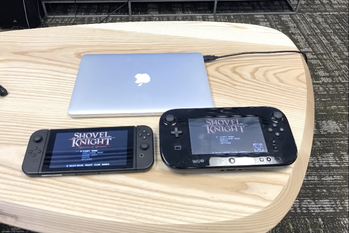 This picture of the nintendo switch and wii u is kind of for Wii u portable mod