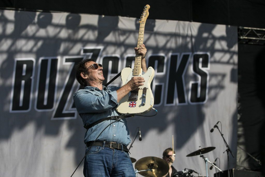 Buzzcocks perform on Friday on Day 1 of Riot Fest at Douglas Park, Sept. 15, 2017. | Ashlee Rezin / Sun-Times