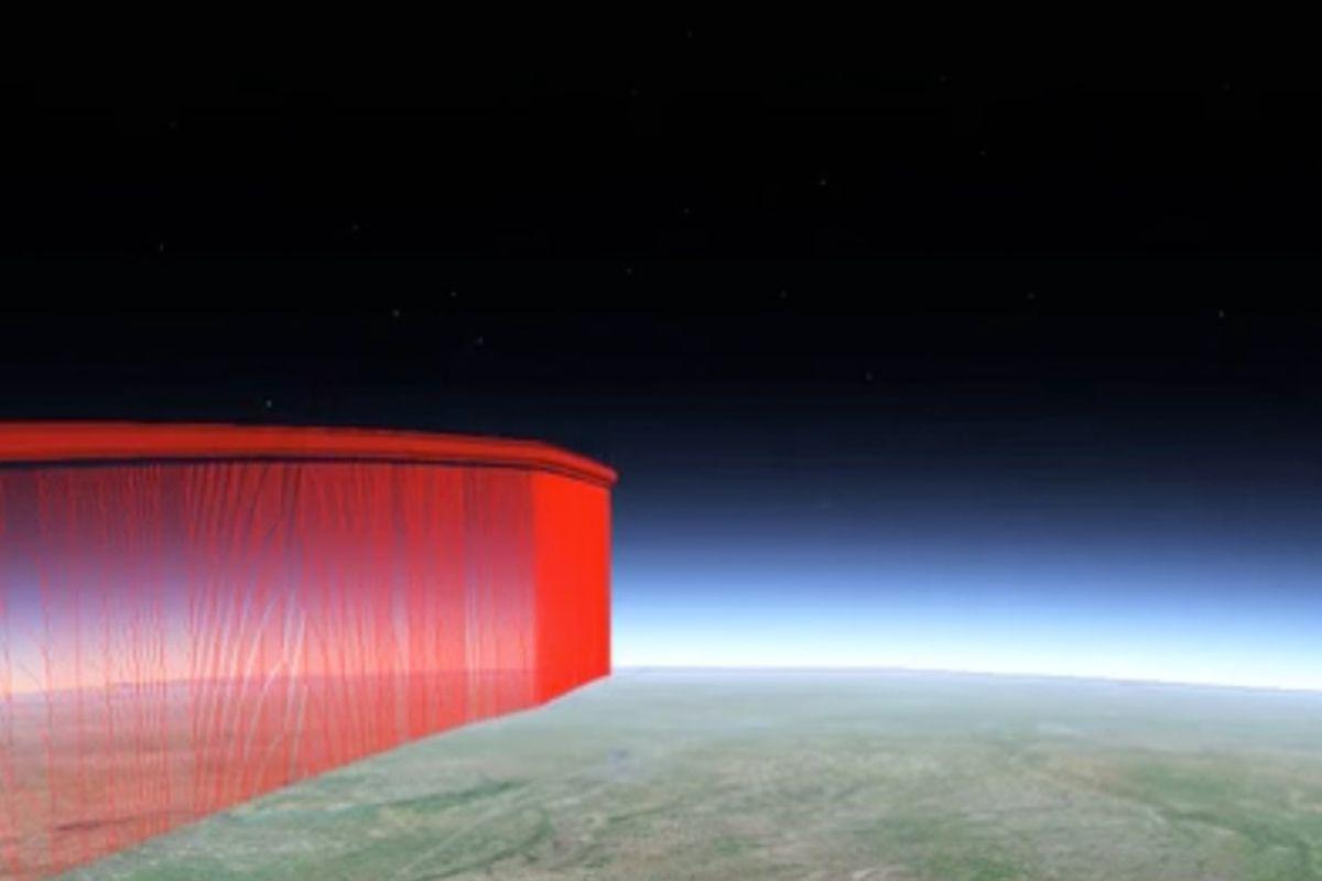 Skyhook in-flight location
