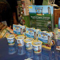 The latest Greek yogurt product from Stonyfield Farms tastes like normal yogurt.