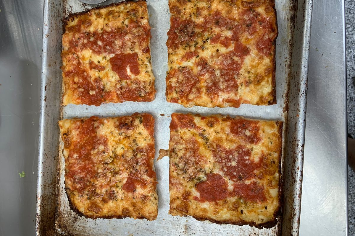 Detroit-style pizza from Piece Out