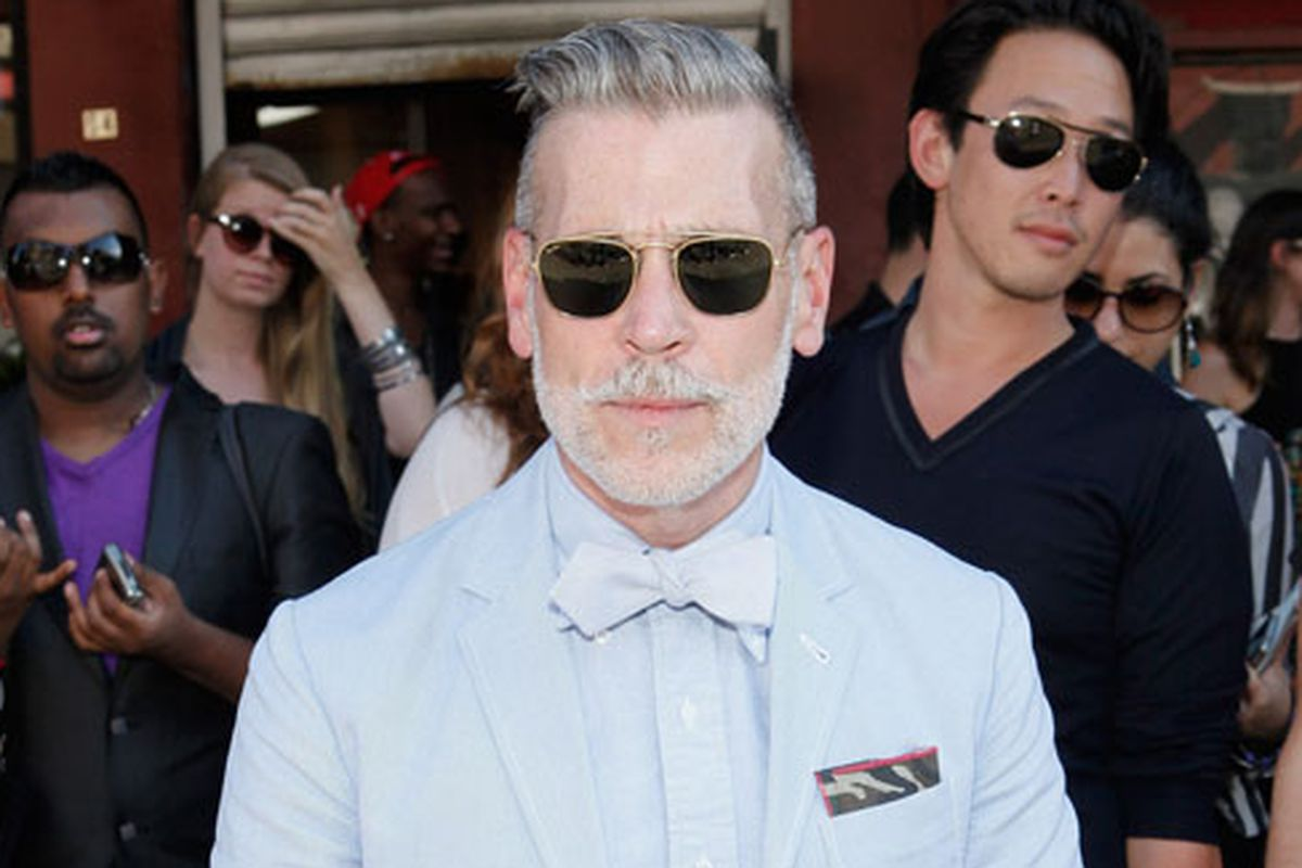 Nick Wooster via Getty. Somehow, this photo is not from an event promoting sunglasses.