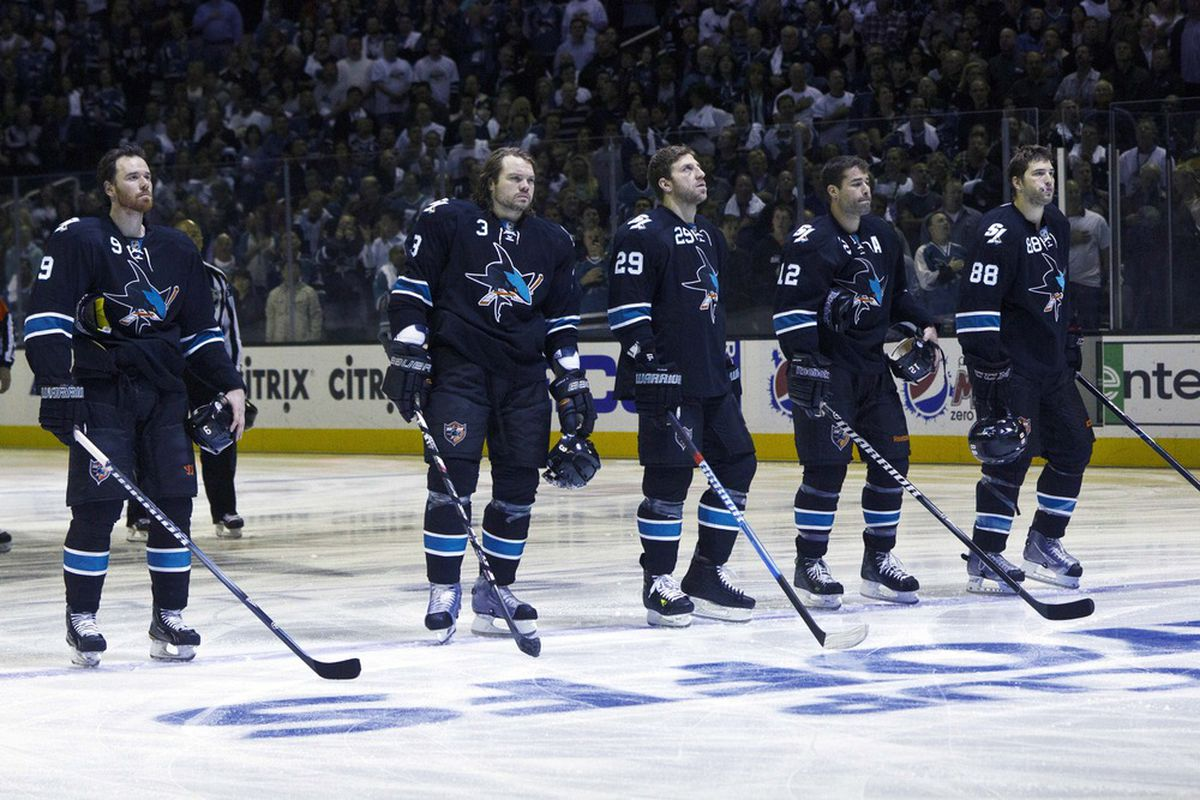 <em>Martin Havlat and Brent Burns were the biggest Sharks acquisitions this past offseason.</em>