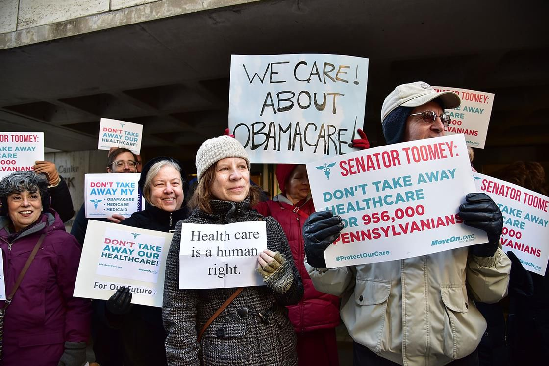 Pro-Obamacare protesters