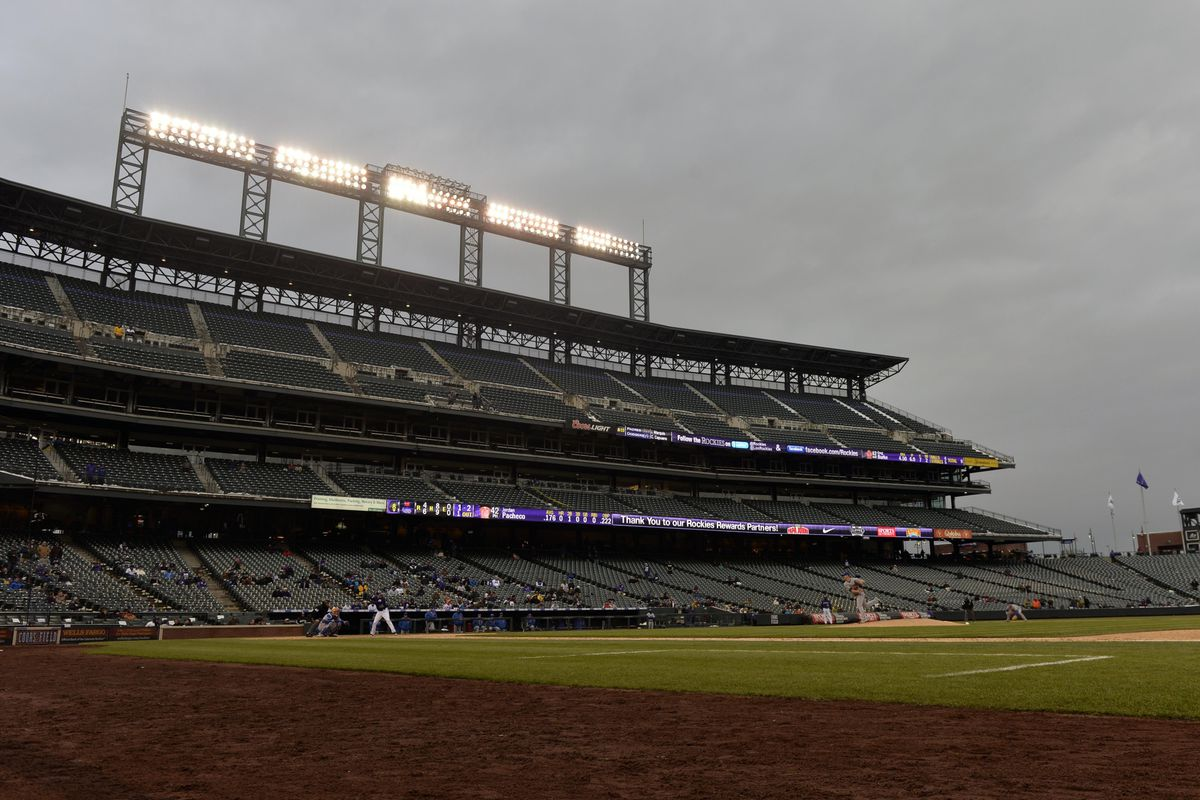 Not a lot of folks at Coors for today's frigid double dip.
