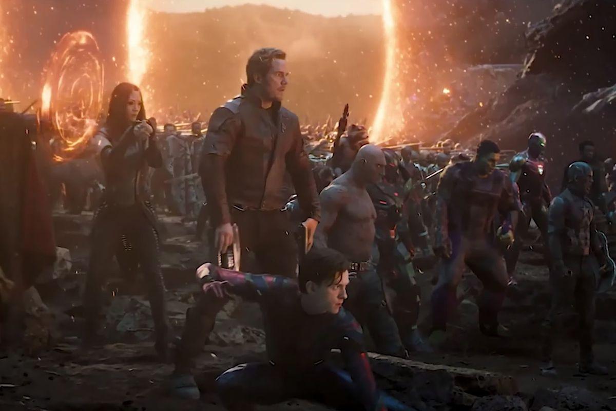 """The Avengers assemble for a final battle against Thanos (Josh Brolin) in """"Avengers: Endgame."""""""