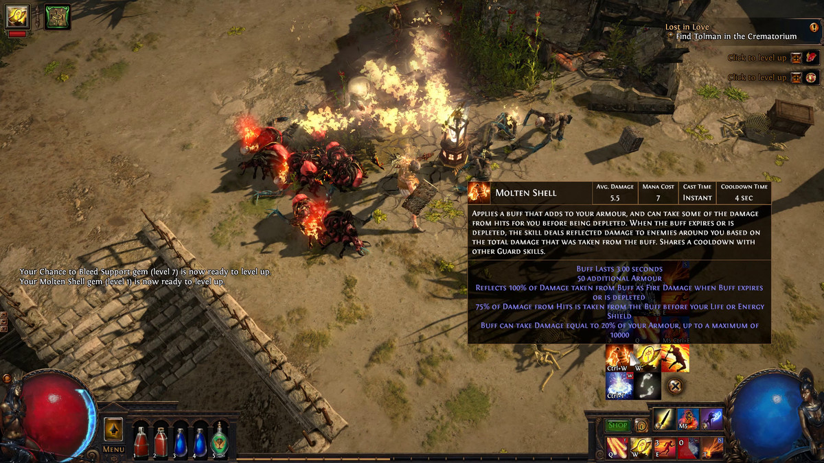 Path Of Exile How Active Skill Gems Work And Where To Find Them Guide Polygon
