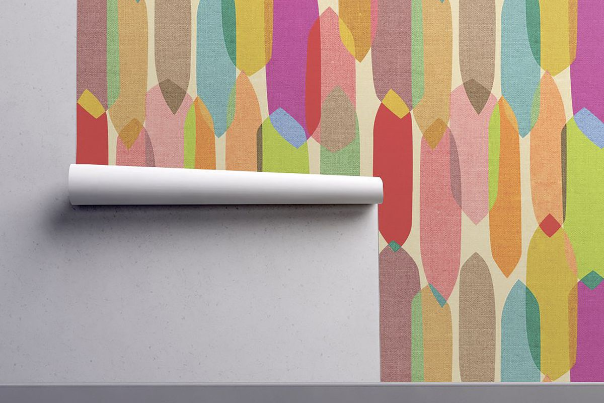 midcentury modern wallpaper lets you live out your 1950s dreams curbed. Black Bedroom Furniture Sets. Home Design Ideas