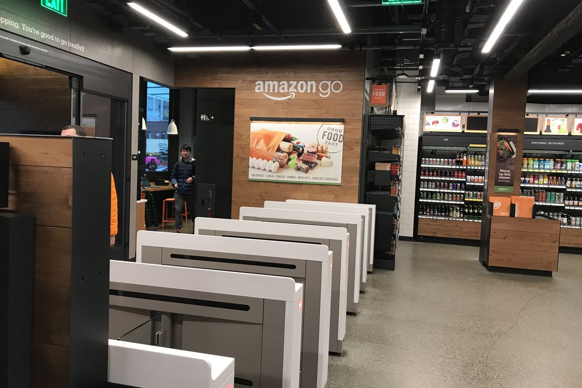 5e10cddcb233 Inside Amazon s first cashier-less Amazon Go store in Seattle. Jason Del  Rey for Recode