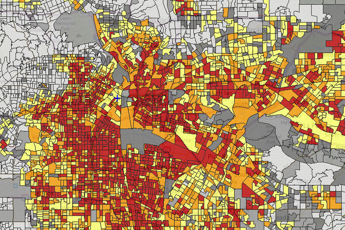 Bad Areas Of Los Angeles Map.Mapping Five Types Of Environmental Risks Across Los Angeles Curbed La