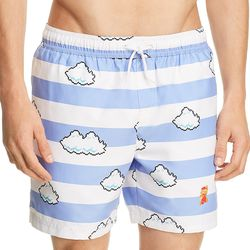 """<a href=""""https://www.bloomingdales.com/shop/product/original-penguin-nintendo-mario-in-the-sky-swim-trunks-100-exclusive?ID=2837640&CategoryID=1049859#fn=ppp%3Dundefined%26sp%3D1%26rId%3D96%26spc%3D78%26spp%3D7%26pn%3D1%7C1%7C7%7C78%26rsid%3Dundefined%26smp%3DmatchNone"""">Original Penguin Mario swim trunks</a>, $79"""