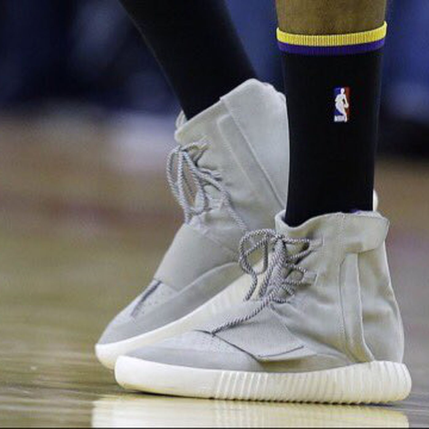 2aadf3a45e97 Nick Young played professional basketball in Yeezy 750 Boosts - SBNation.com