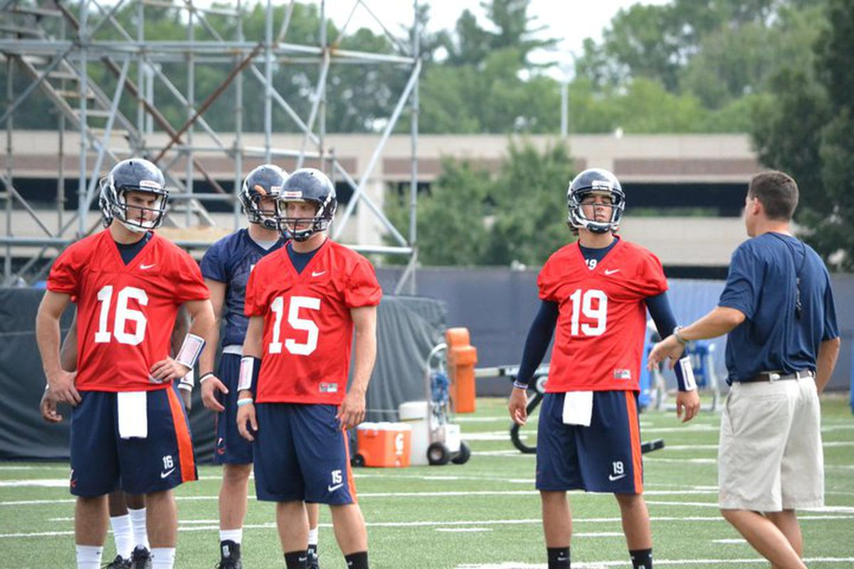 Rocco, Metheny, and Strauss, from left to right, from the Hoos's first practice of the fall. // via CavsCorner