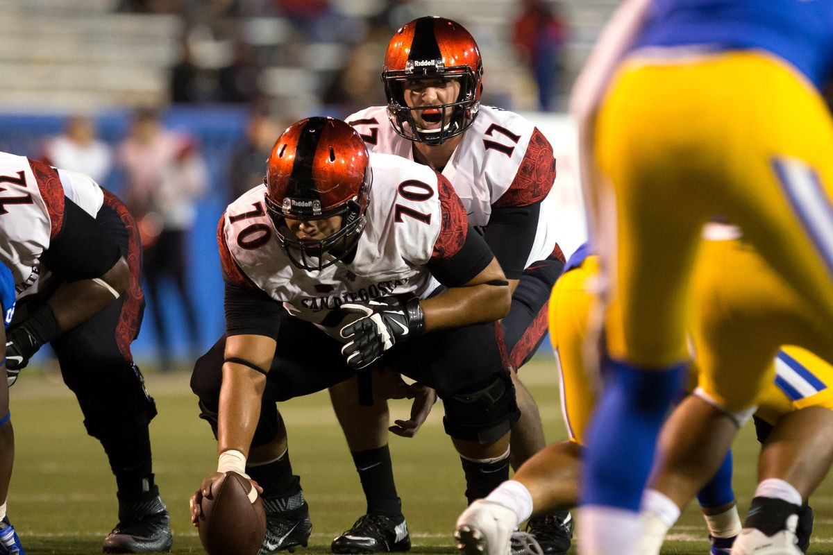 Arthur Flores of the Aztecs is one of 25 Underdogs on watch for the 2016 Rimington Trophy
