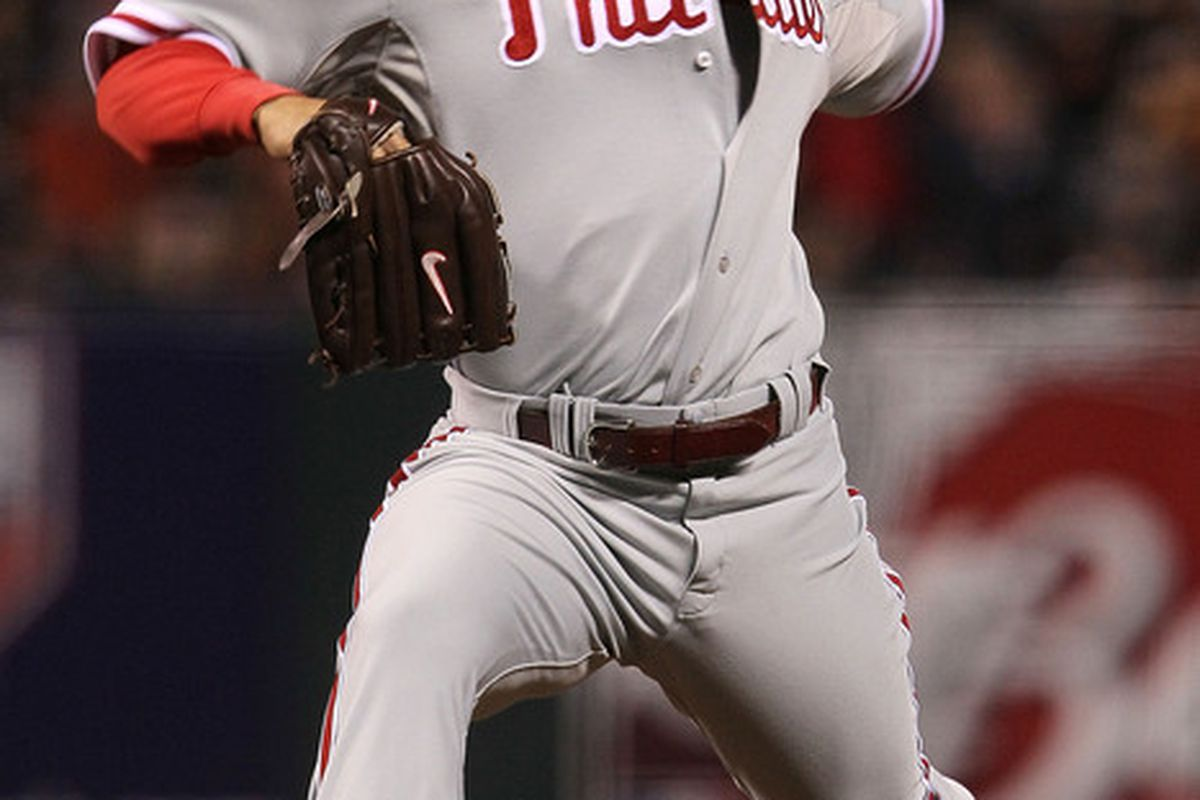 October 27-29, 2008. Rays 3. Phillies 4. WP: Romero (2-0). LP: Howell (0-2). SV: Lidge (2). (Photo by Justin Sullivan/Getty Images)